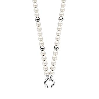 Orphelia Pearl halsband vit med Silver bollar ZK-2753