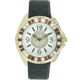 Police montre wrist watch caoutchouc analogique PL. 13090JSG/28 jours