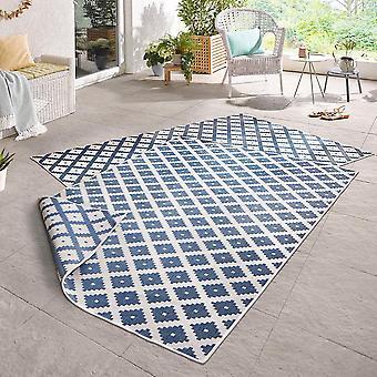 Dar vuelta la alfombra crema azul nice in - & exterior