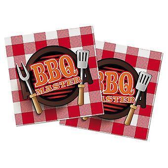 Serviettes napkins BBQMaster grill party birthday 40x40cm 20 units
