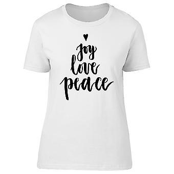 Радость любви мира Tee женщин-изображений Shutterstock