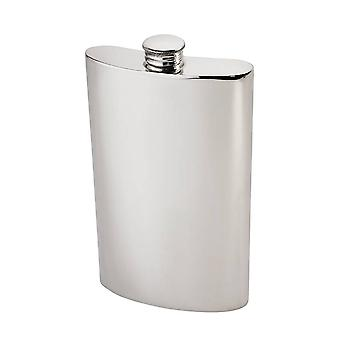 8Oz plaine rein étain Hip Flask