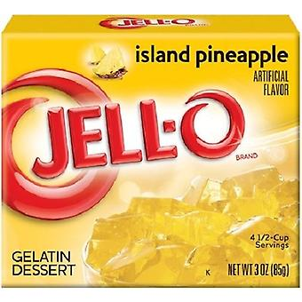 Jell-O Island Pineapple Instant Jello Gelatin Mix 3 oz Box