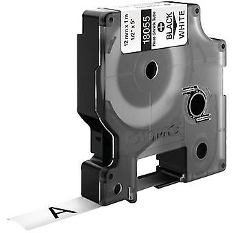 Kabelbinder etiket DYMO IND RHINO 18055 polyolefinen Tape kleur: wit lettertype kleur: zwart 12 mm 1.5 m