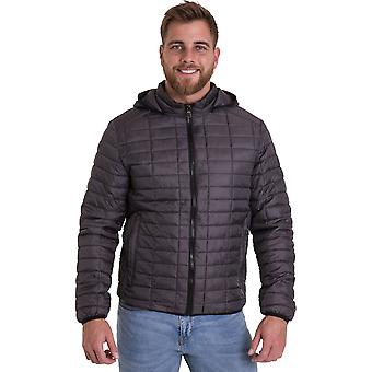Outdoor-Look Mens Corpach Puffa Steppjacke Mantel mit Kapuze