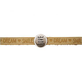 Damen - Armband - Love - Liebe - WISHES - Braun - Sand - Magnetverschluss