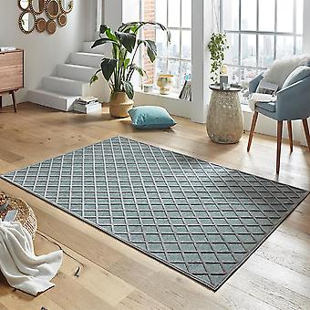Design viscose rug Danton in relief appearance Grau Blau