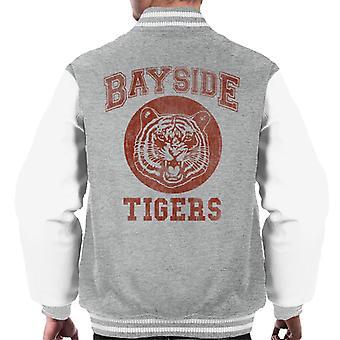 Zapisane przez dzwon inspirowane Bayside tygrysy mężczyzn uniwerek kurtka