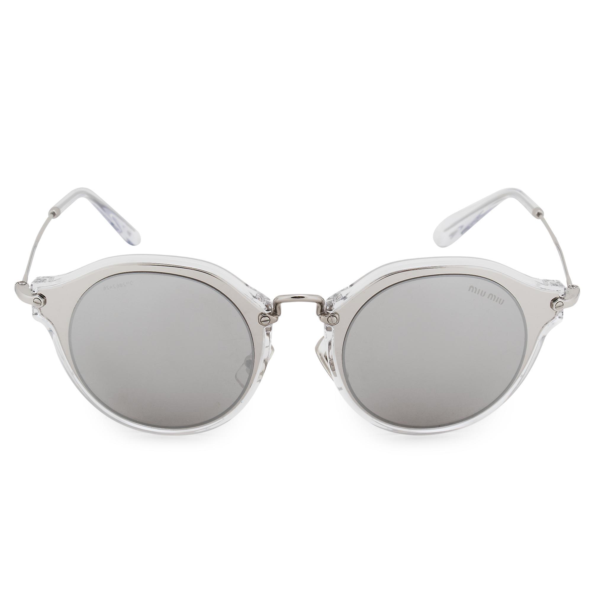 Miu Miu Round Sunglasses SMU51SS 1BC2B0 49