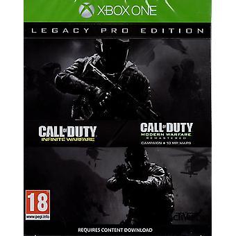 Call of Duty Warfare nieskończone Legacy PRO Edition Xbox jedna gra
