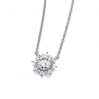 Cavendish French Cubic Zirconia Sun Goddess Necklace