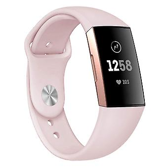 Silicone bracelet compatible with Fitbit Charge 3