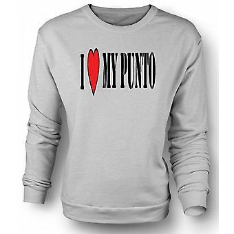 Womens Sweatshirt ich LoveMy Punto - Spaß - Fiat Auto