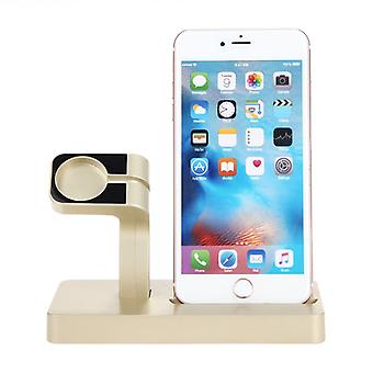 USB charging stand for Apple Watch and iPhone Gold