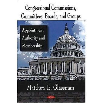 Grupos, comissões, conselhos e comissões do Congresso: autoridade de nomeação e a associação