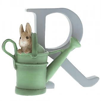 Beatrix Potter Alphabet Letter R Peter Rabbit In Watering Can Figurine