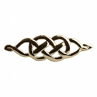 Oro 9ct 9x35mm Celtic knot spilla