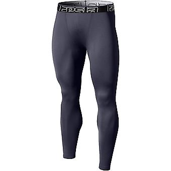 TSLA Tesla YUP21 Thermal Winter Gear Compression Pants - Dark Gray/Dark Gray