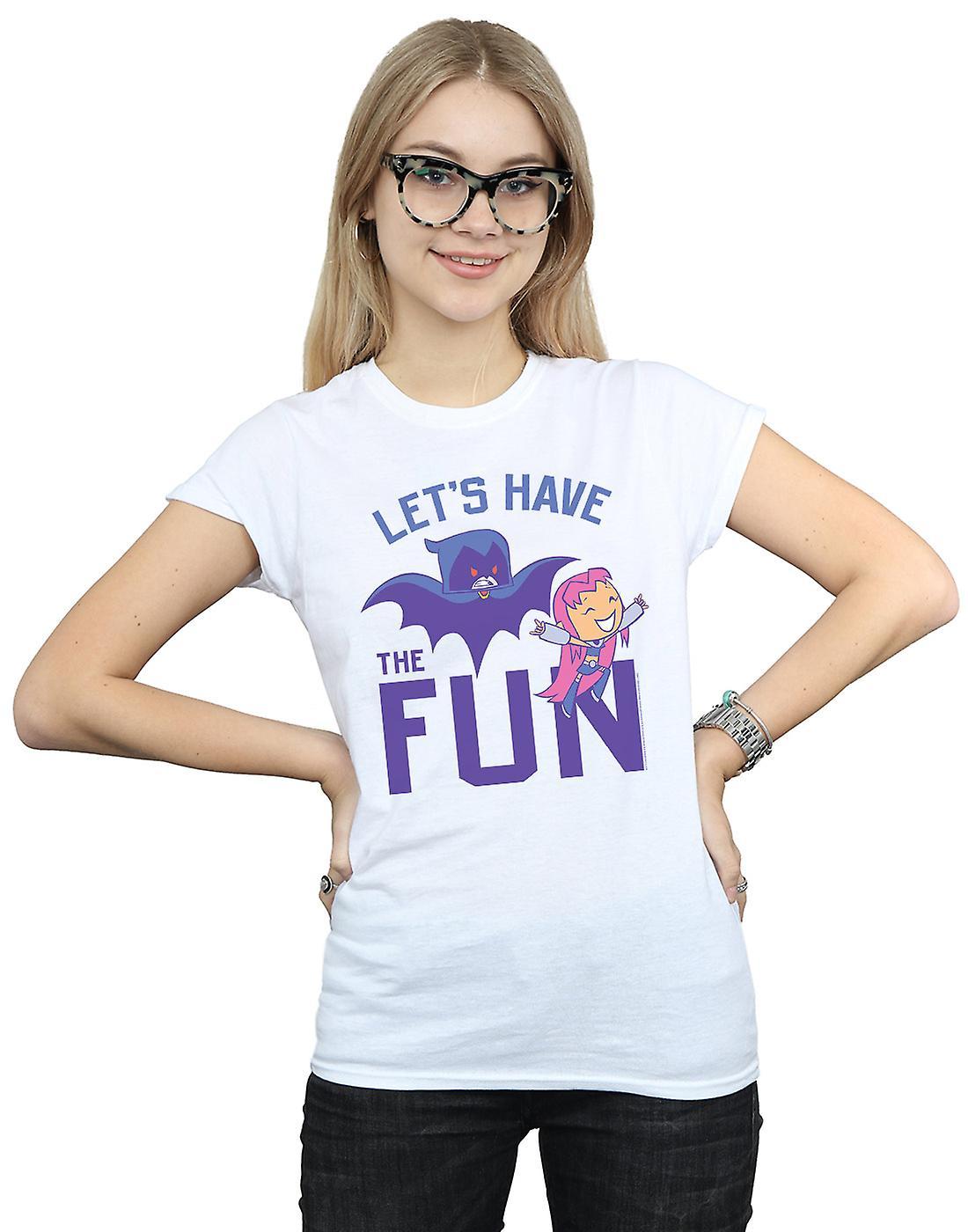 DC Comics Women's Teen Titans Go Let's Have The Fun T-Shirt