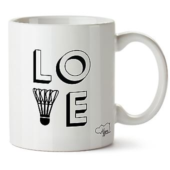 Hippowarehouse kjærlighet Badminton trykt krus Cup keramiske 10 Unzen