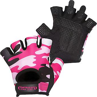 Contraband Sports 5217 Pink Label Camo Weight Lifting Gloves - Pink