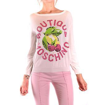 Moschino Ezbc015045 Women's White Cotton Sweater