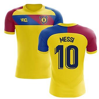 2018-2019 Barcelona Fans Culture Away Concept Shirt (Messi 10) - Kids