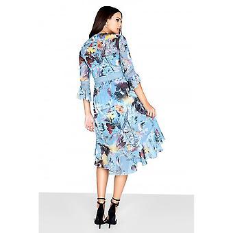 Little Mistress Womens/Ladies Floral Frill Midi Dress