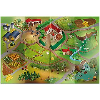 Large FARM Waterproof Outdoor Play Mat 140x200cm