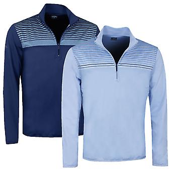 Callaway Mens Herringbone 1/4 Zip Pullover Golf Sweater