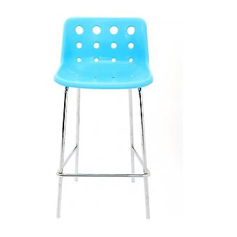 Loft Robin Day 4 Leg Bright Blue Plastic Polo Bar Stool