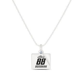 Alex Bowman Diamante durante collar en diseño de plata de ley por BIXLER