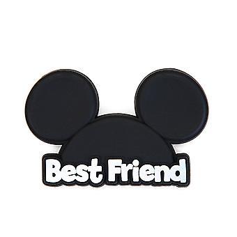 Novelty Magnet - Disney - Mickey Head - Best Friend Soft Touch PVC New 85794