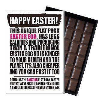 Funny flad påske æg chokolade bar lykønskningskort gave mænd kvinder ven UK EIYF106
