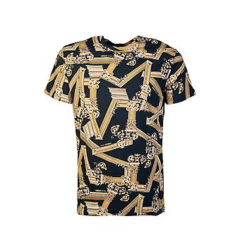 Versace T-shirt Regular Fit All Over Print B3gtb7r0 S0503