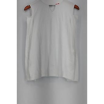 スーザングレーバーセーターレーヨンナイロン冷たい肩モックホワイトA297155