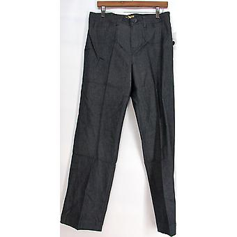 Motto Yarn-dyed Twill Fly Front Boot Cut Pants Dark Navy Blue A95258
