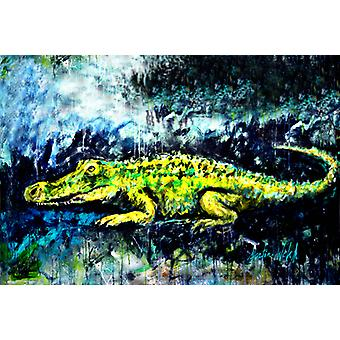 Carolines Treasures MW1233PLMT Sneaky Alligator Fabric Placemat