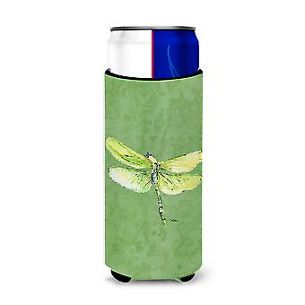 Dragonfly on Avacado Ultra Beverage Insulators for slim cans 8864MUK