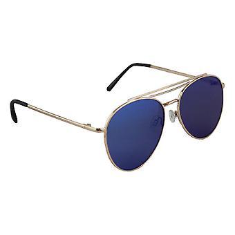 Sunglasses UV 400 Aviator Gold Blauw1987_7
