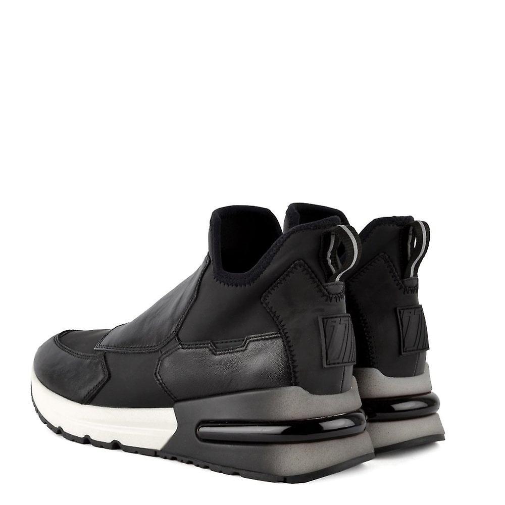 Ash Footwear Krystal Black Neoprene & Leather Trainer