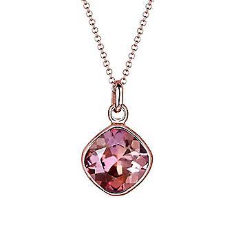 Elli halskjede med kvinners anheng belagt rose gull med Swarovski krystaller