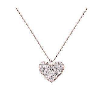 Fable Womens/dames Diamante hart lange hanger