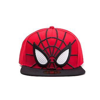 Marvel Spiderman SnapBack Cap 3D mash ogen rood/zwart, 76% acryl 4% wol 10% katoen