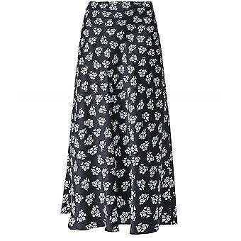 RIXO Kelly Silk Floral Midi Skirt