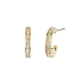 Traveller hoop earring - 22ct gold plated - Swarovski Crystals - 11mm - 157121