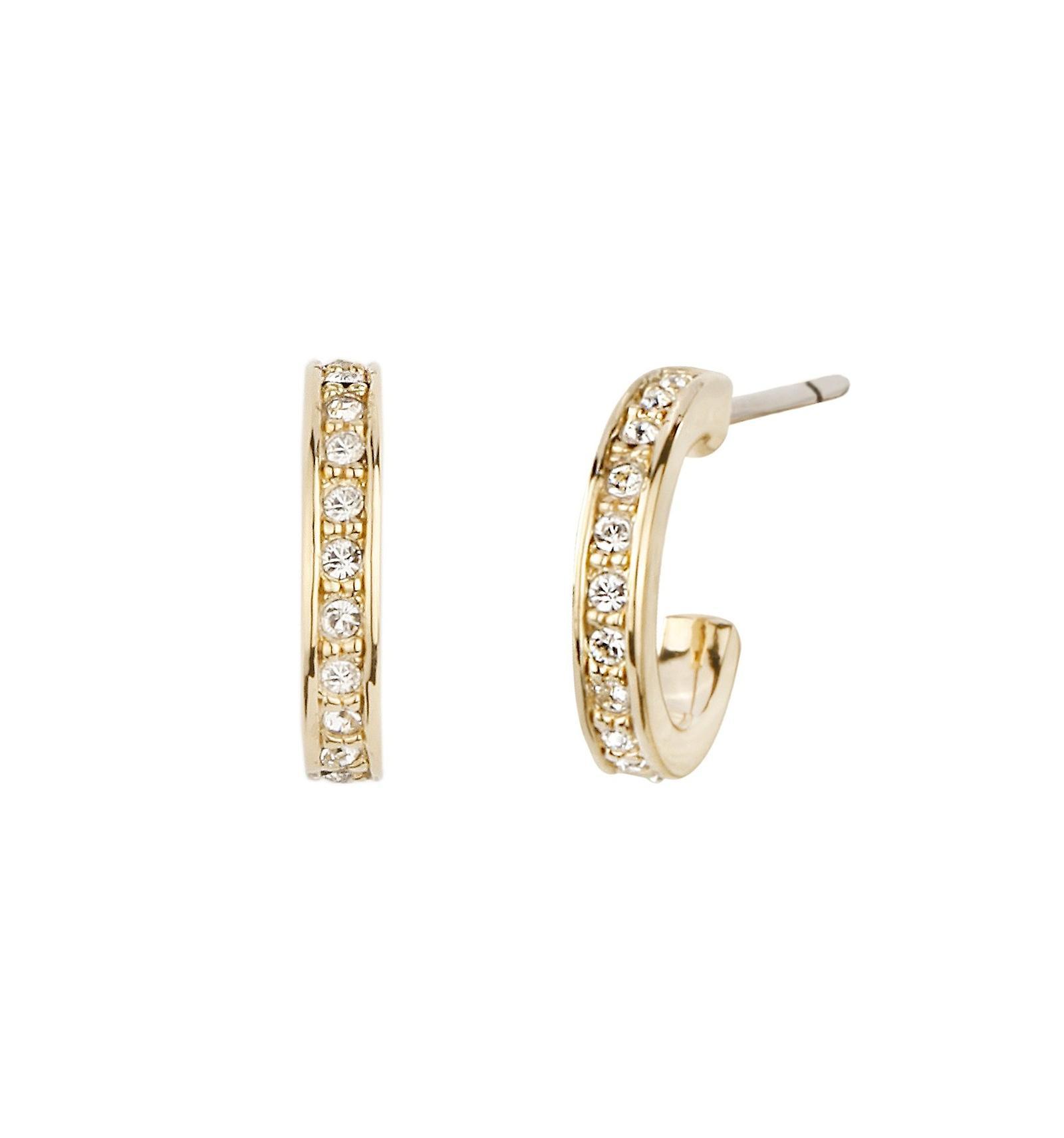 Traveller hoop earring - 22ct gold plated - Swarovski Crystals - 11mm - 157121