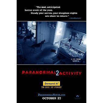 Paranormal Activity 2 Juliste kaksipuolinen Regular (2010) alkuperäinen elokuva juliste