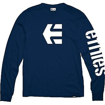 Etnies Icon Long Sleeve T-Shirt in Navy