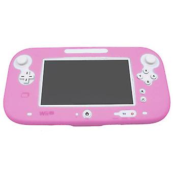 Protective silicone cover for wii u gamepad soft bumper cover - pink